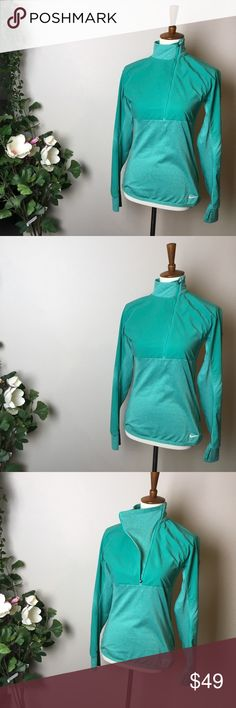 NIKE PRO sports running sweatshirt jacket Really good fabric, nice to touch. Has pockets, long sleeves with thumb hole and neck protective collar. It's more of a jacket.  Very good condition.  Size S.  Make a reasonable offer and I'll either counter, accept or decline. No trades.  Please check out the rest of my closet, I have various brands. Nike Tops Sweatshirts & Hoodies