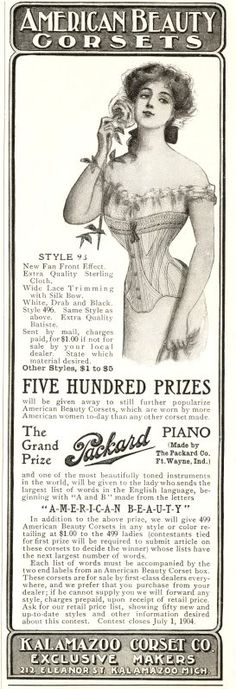 Vintage advertisement that appeared in the 1904 Ladies Home Journal.