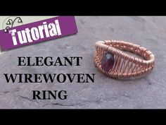 The Beading Gem's Journal: Easy Wire Woven Copper Ring Tutorial Wire Jewelry Rings, Wire Jewelry Designs, Handmade Wire Jewelry, Metal Jewelry, Craft Jewelry, Wire Earrings, Beaded Rings, Earrings Handmade, Wire Rings Tutorial