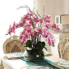 35 h orquídeas en el arreglo florero de cristal - EUR € 93.63