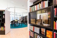Library interior design completes architectural vision