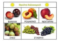 www.kidsactivities.gr Special Education, Plum, Greek, Apple, Fruit, Cooking, Summer, Food, School