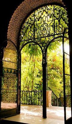 Moorish garden at the Reales Alcazares in Seville, Spain • photo: ferryvn on Redbubble