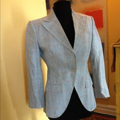 Dolce & Gabbana Blazer In great condition. Tailored blazer with welt pockets, fully lined. This is authentic Dolce & Gabbana (not D&G). 73% linen & 27% wool. Made in Italy. Marked size 42 (Italian size) but fits like a size 4 US. Happy to give exact measurements to serious buyers Dolce & Gabbana Jackets & Coats Blazers