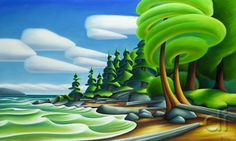 Adele Campbell Fine Art Gallery in Whistler BC features artwork for sale by emerging and established contemporary Canadian artists working in painting and sculpture. Landscape Art, Landscape Paintings, Landscapes, Expressive Art, Creative Artwork, Environment Concept Art, Naive Art, Canadian Artists, Cool Paintings