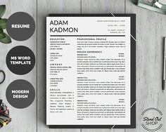 How To Get Resume Templates On Microsoft Word Modern Microsoft Word Resume Template Aliciainkpower On Etsy .