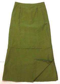 "Express Bleus Skirt 9/10 Nylon Convertible 10"" Side Zippers Hiking Travel Modest  | eBay"