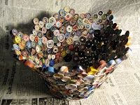 paper rolled basket, you can make other things with this technique