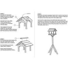 RSPB Country barn bird table