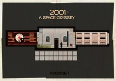 Illustrations Of Famous Film Set Designs From Iconic Films - DesignTAXI.com