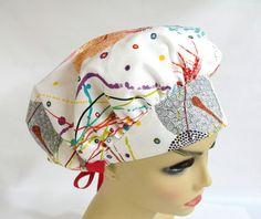 Womens Surgical Scrub Cap or Hat African Daisy by ScrubsbyEdie, $13.50