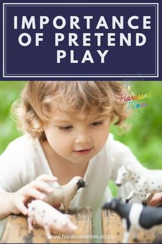 Pretend play is crucial to a child's development! Gentle Parenting, Kids And Parenting, Parenting Hacks, Practical Parenting, Parenting Plan, Parenting Articles, Parenting Classes, Play Based Learning, Learning Through Play