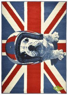 DeBonsol - Tapis salon VEGAS drapeau anglais union jack d…