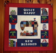 Quilt Happy Sewing Room Wall-Hanging