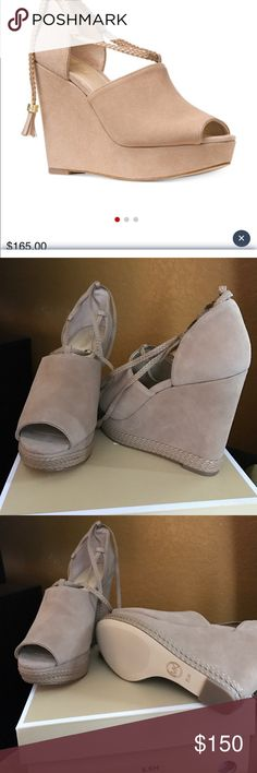 Michael Kors Hastings Wedge DK Khaki Micheal Kors wedge never worn brand new they did not fit MICHAEL Michael Kors Shoes Wedges