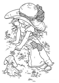 Sarah Kay (many more beautiful coloring pages in this link) | Free Kids Coloring and Crafts