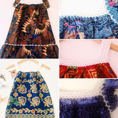 So inspired by all our kids batik range. Handprinted and crocheted. Perfection!