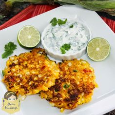 Menu Musings of a Modern American Mom: Corn Cakes with Cilantro Lime Cream