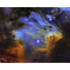 A colorful Pelican Nebula in the constellation Cygnus Canvas Art - Roberto ColombariStocktrek Images (16 x 13)