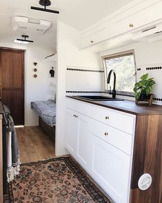 Vintage Airstream Renovation by arrowsandbow! House, Small Spaces, Home, Tiny House Living, Rv Living, Camper Makeover, New Homes, Airstream Remodel