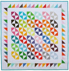 @Red Pepper Quilts as seen on flickr. Love the contrast of white and jewel tones.