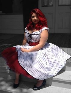Rockabilly Retro Dress from BlueBerryHillFashions.com