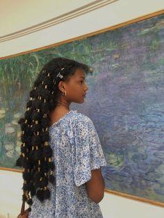 (1) ♡ sydney ♡ (@sydneyonline_) / Twitter Black Girl Aesthetic, Aesthetic Hair, Black Girls Hairstyles, Braided Hairstyles, Hairstyle Short, Dreadlock Hairstyles, School Hairstyles, Prom Hairstyles, Hairstyles For Medium Length Hair Easy