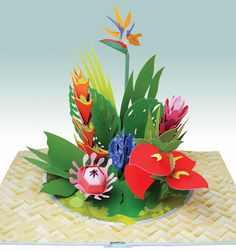 Paper Blossoms A Pop Up Book Of Beautiful Bouquets For The Table Paper Crafts Pinterest