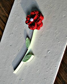 Quilled Flower Valentine Card DIY / All Things Paper