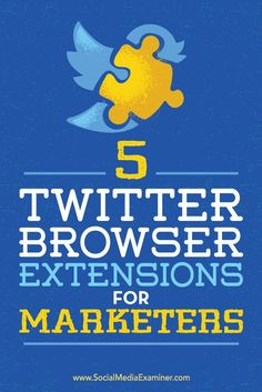 Soulmate24.com Tips on 5 browser extensions to help streamline your Twitter marketing; Details> Mens Style