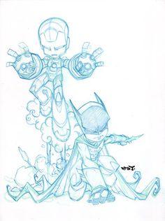 .Love the Iron Man and Batman art!
