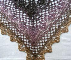 """Dreieckstücher - Lacetuch """"Desert Dusk"""" - ein Designerstück von fixundfarbig bei DaWanda"""