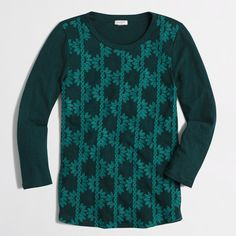 Factory embroidered-front tee : long sleeve   J.Crew Factory