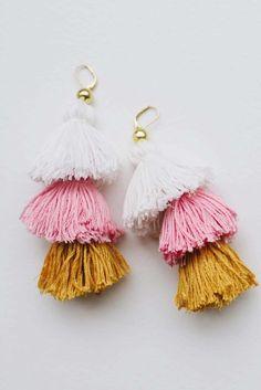 DIY Tassel Earrings.