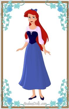 Ariel { Blue Dress } by kawaiibrit.deviantart.com