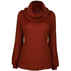 James Lakeland Cowl Neck Mohair Top ($76) ❤ liked on Polyvore featuring tops, sweaters, shirts, burnt orange, cowl neck sweater, long sleeve tops, long sleeve shirts, sleeve shirt and cowlneck sweater