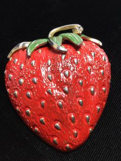 Strawberry Farm, Beautiful Butterflies, Seeds, Enamel, Fur, Metal, Green, Gold, Strawberries