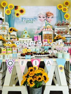 Fantastic Frozen Fever birthday party! See more party ideas at CatchMyParty.com!