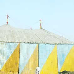"""Alicia Bell on Instagram: """"A circus tent along the road to the Taj Mahal #India #inspiration #color #love #travel"""""""