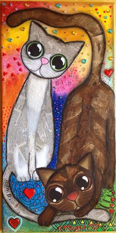 - Mis Cuadritos Y cuadros de Gatos, perros, de árboles de muchos colores, infantiles con princesas y llenos de color. Dog Pictures, Animal Pictures, Naive Art, Dog Portraits, Whimsical Art, Art Plastique, Animal Paintings, Cat Art, Cats And Kittens