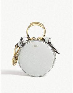 Chloe Alphabet grained leather coin purse