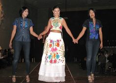 Fashion inspired by modern Mexican textiles