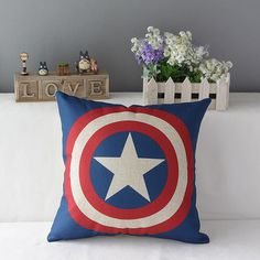 Technics:Woven Use:Home,Hotel,Other Pattern:Printed Type:Pillowcase Feature:Non-Toxic,Eco-Friendly Fabric Count:Cotton Linen Thread Count:Cotton Linen Style:Marvel Heroes The Avengers Material:Cotton