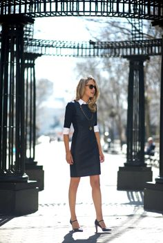 Summer is coming! Classic dress for work with a twist