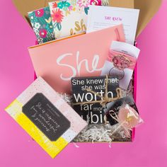 The October featured Surprise Box is a super fantastic gift for that strong and inspiring woman in your life!