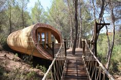 Fibonacci Tree House In Is Quite Amazing! See more at #MaineOffGridLiving