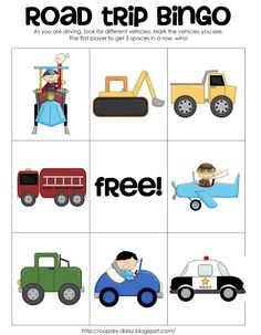 Funner in the Summer: Road Trip Bingo from oopsey daisy