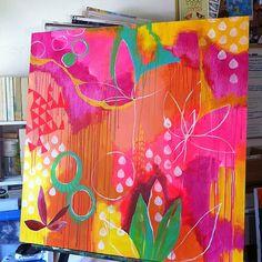 art abstracto Beginning. Abstract Flowers, Art Techniques, Painting Inspiration, Modern Art, Contemporary Artists, Contemporary Abstract Art, Diy Art, Art Lessons, Flower Art