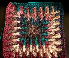 Elements square in Unforgettable yarn