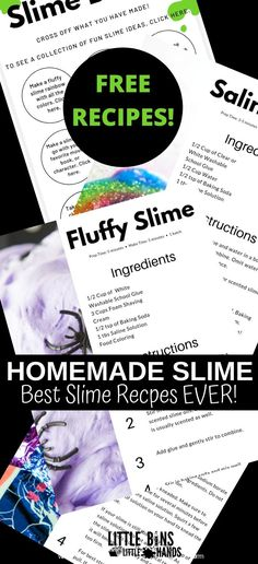 Do your children love to create slime? Looking for fun hands on learning for your sensory seeking kids? You can learn to make slime at home with your kids during the stay at home orders! A fun resource to help hands on kids during the social distancing orders and break from school. A fun activity for parents to do together with their kids. Easy steps for how to make slime!  #DIYSlime #SensorySlime #SlimeRecipes